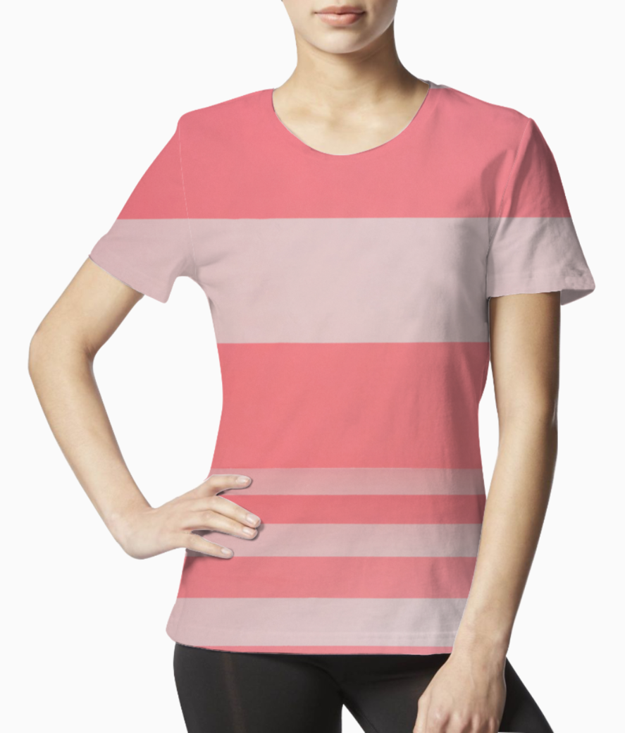 Pink kate tee front