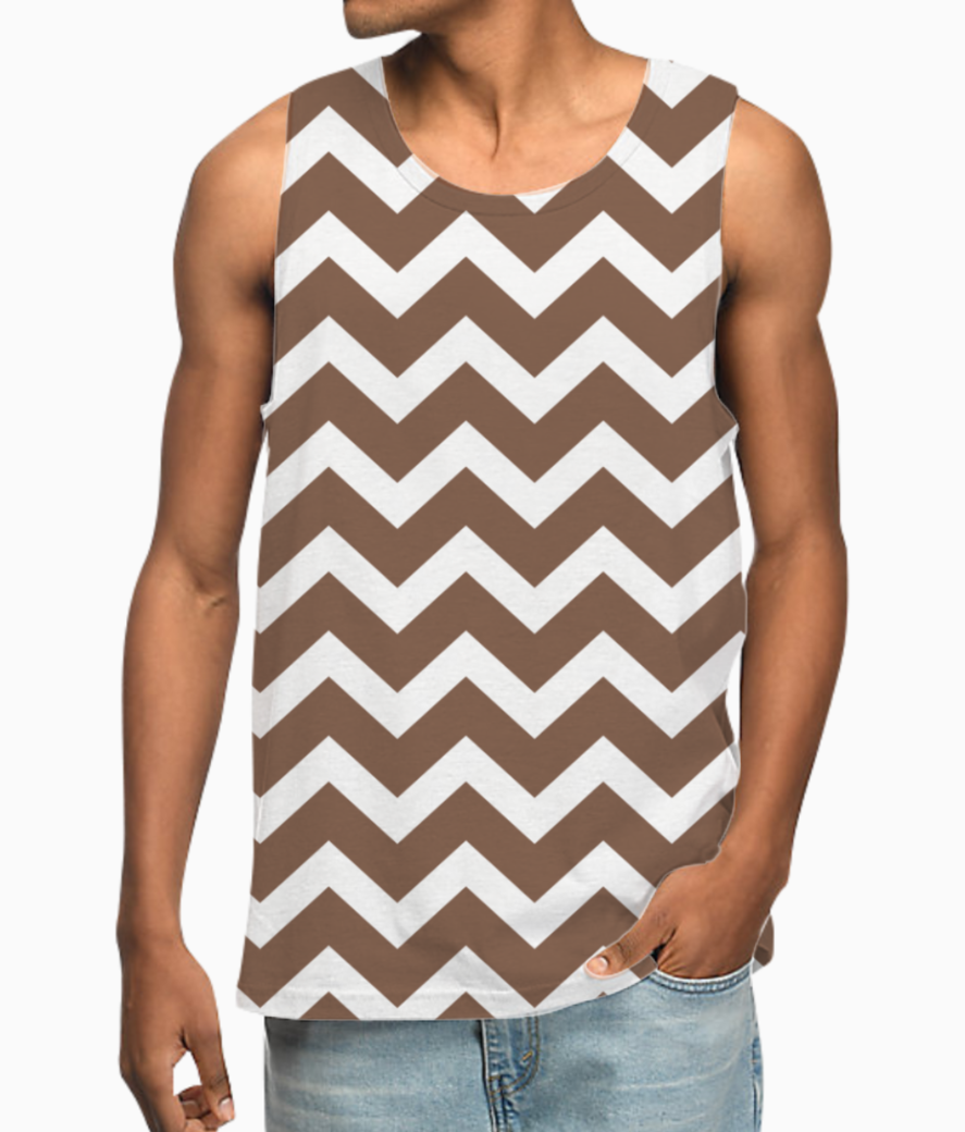 Brownstone chevron vest front