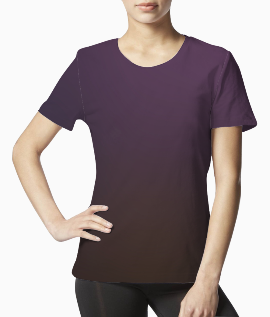 Violet blurred abstract tee front