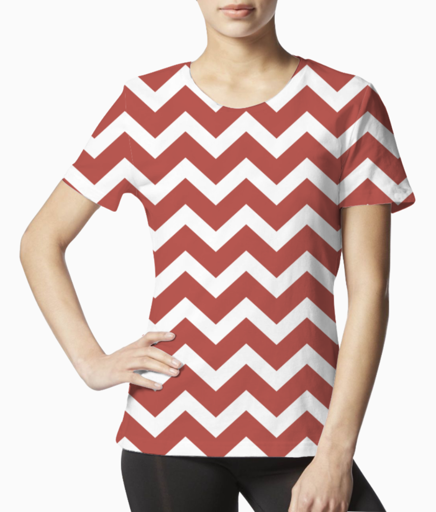 Tuscan red chevron tee front