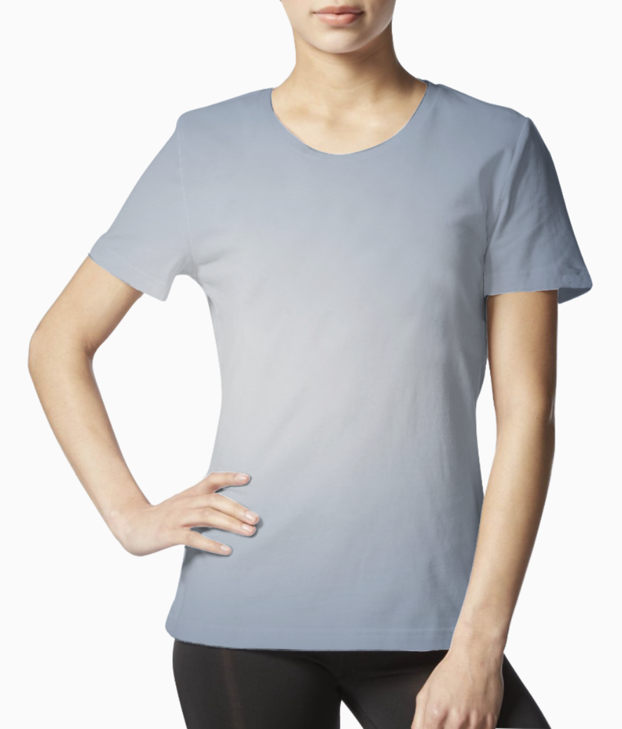 White gradient tee front