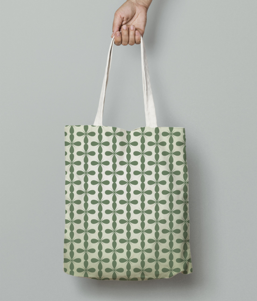 Floral seamless pattern tote bag front