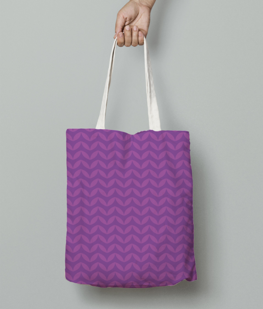 Wavy seamless pattern tote bag front