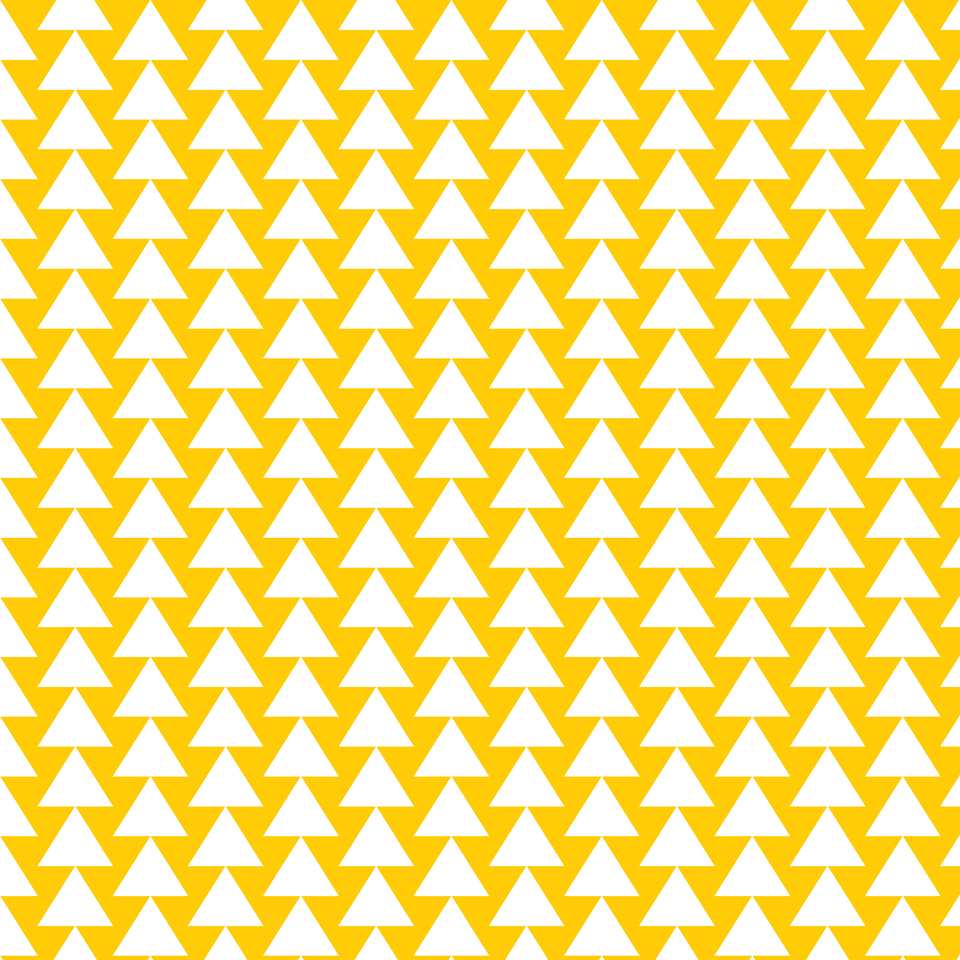 Yellow white triangle pattern