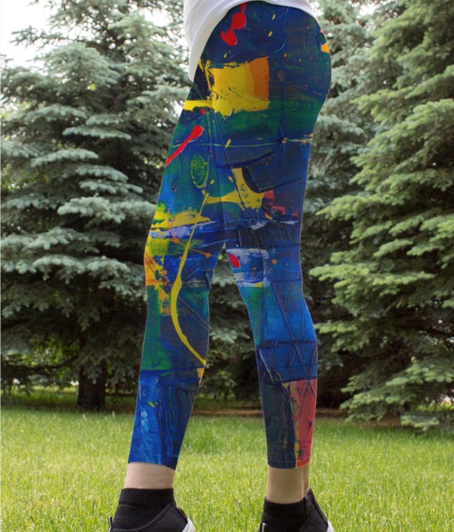 Abstract intention leggings front