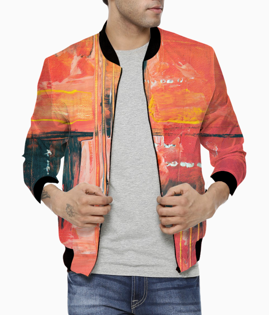 Coral swabs bomber front