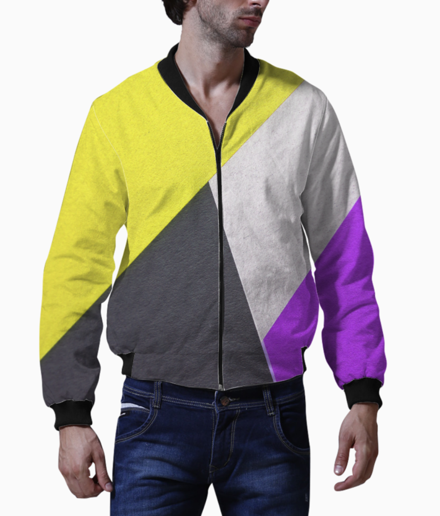 Color meet bomber front