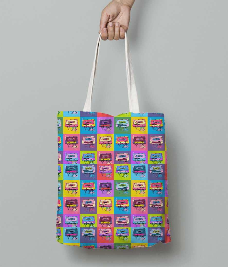 Psychedelic party tote bag front
