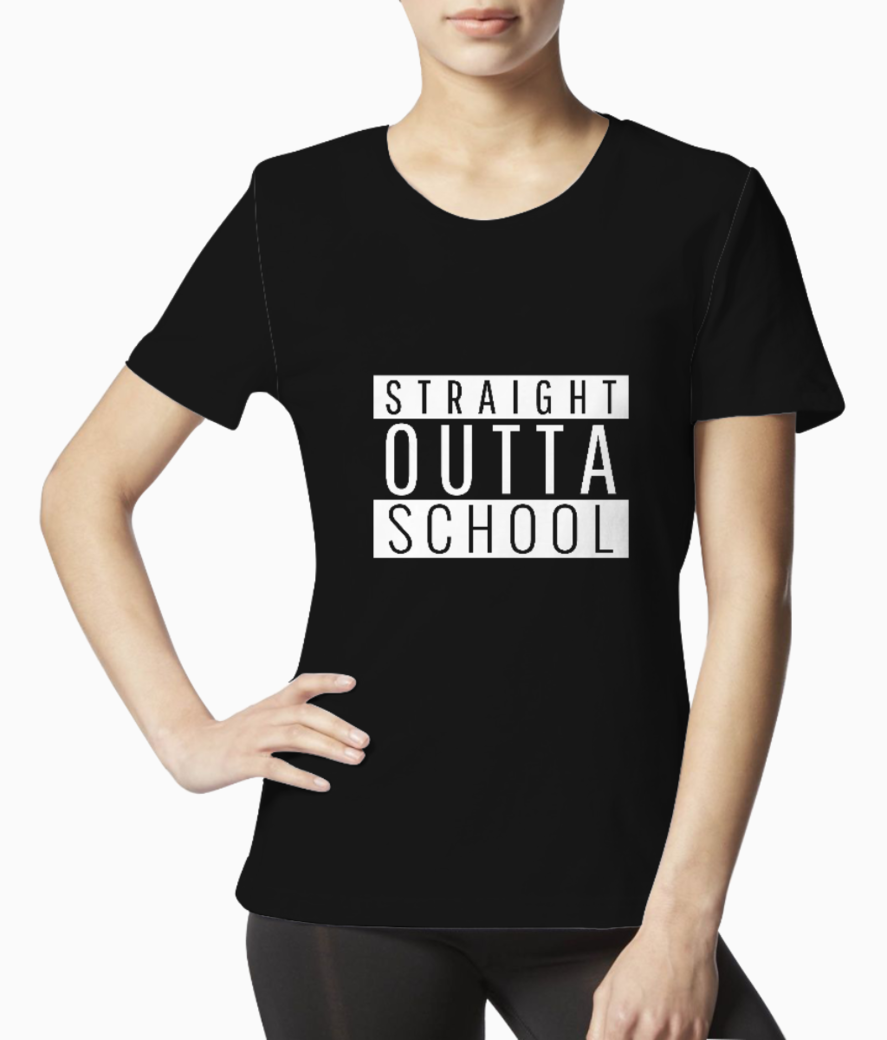 Parental advisory styled t shirt design maker with a funny school phrase 1953a tee front