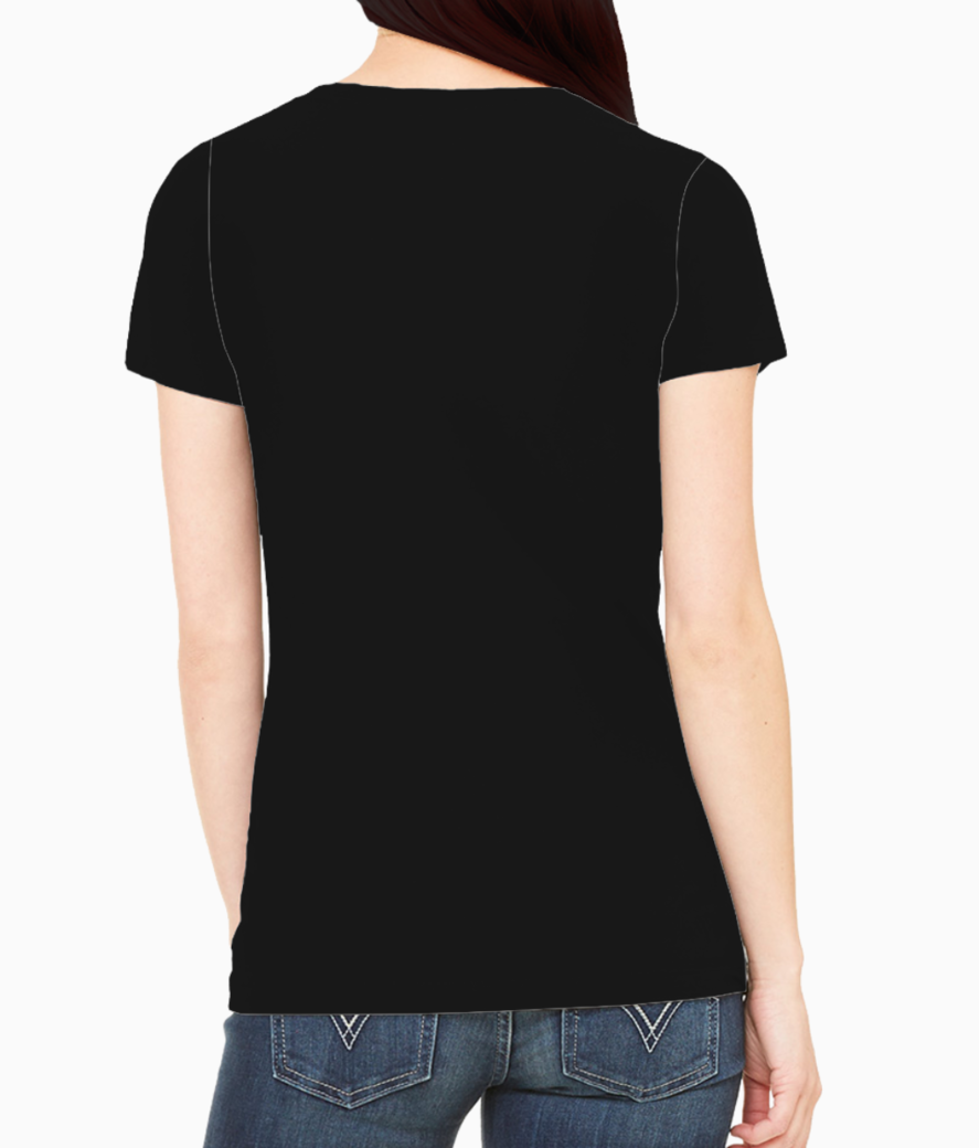 T shirt design maker with an illustrated woman taking a selfie 1919d tee back
