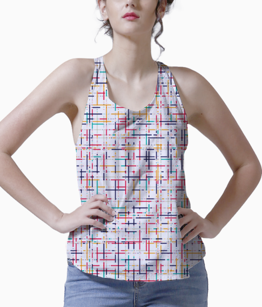 Abstract checks  pattern tank front