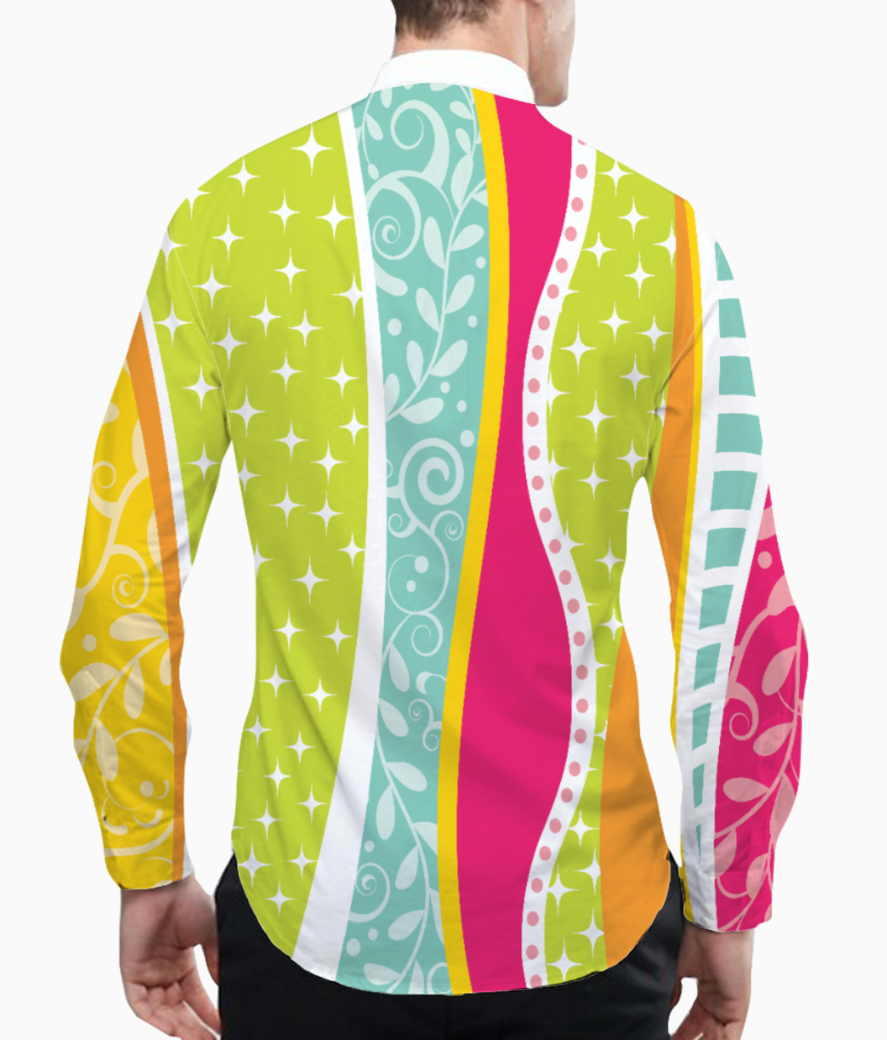 Abstract lines pattern 2 basic shirt back