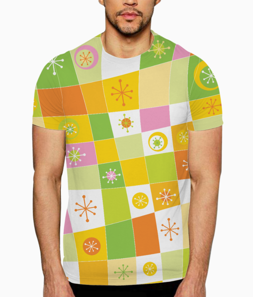 Abstract lines pattern t shirt front