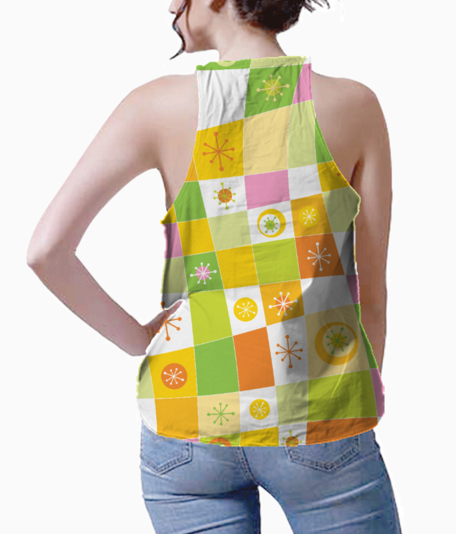 Abstract lines pattern tank back
