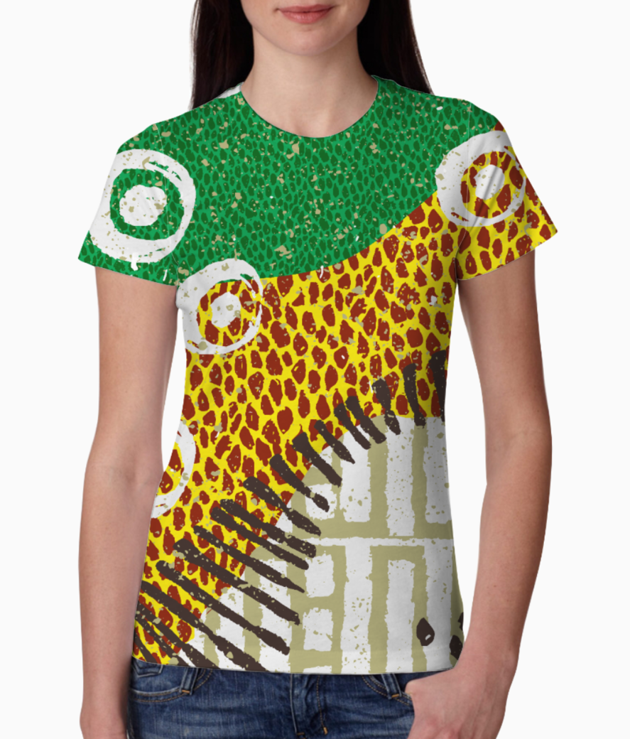 African pattern 2 tee front