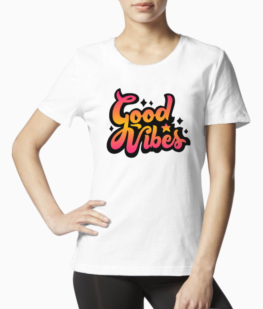 Good vibes tee front