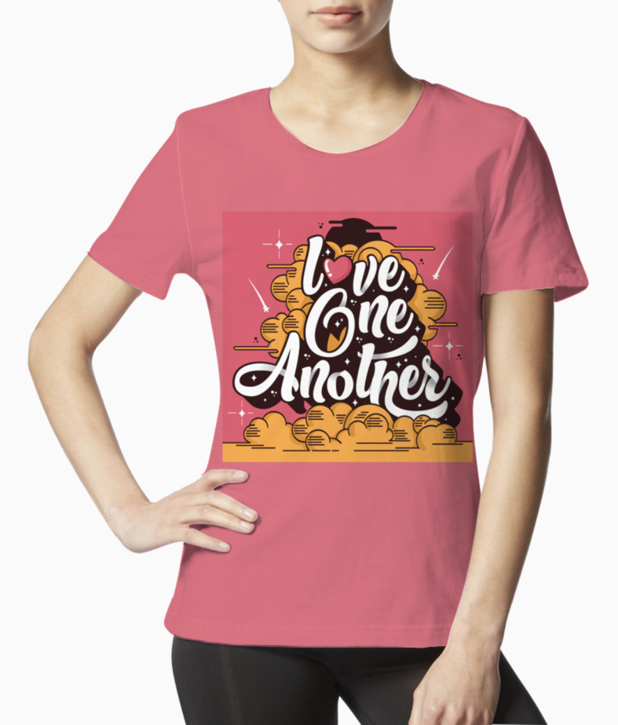Love one another typography tee front