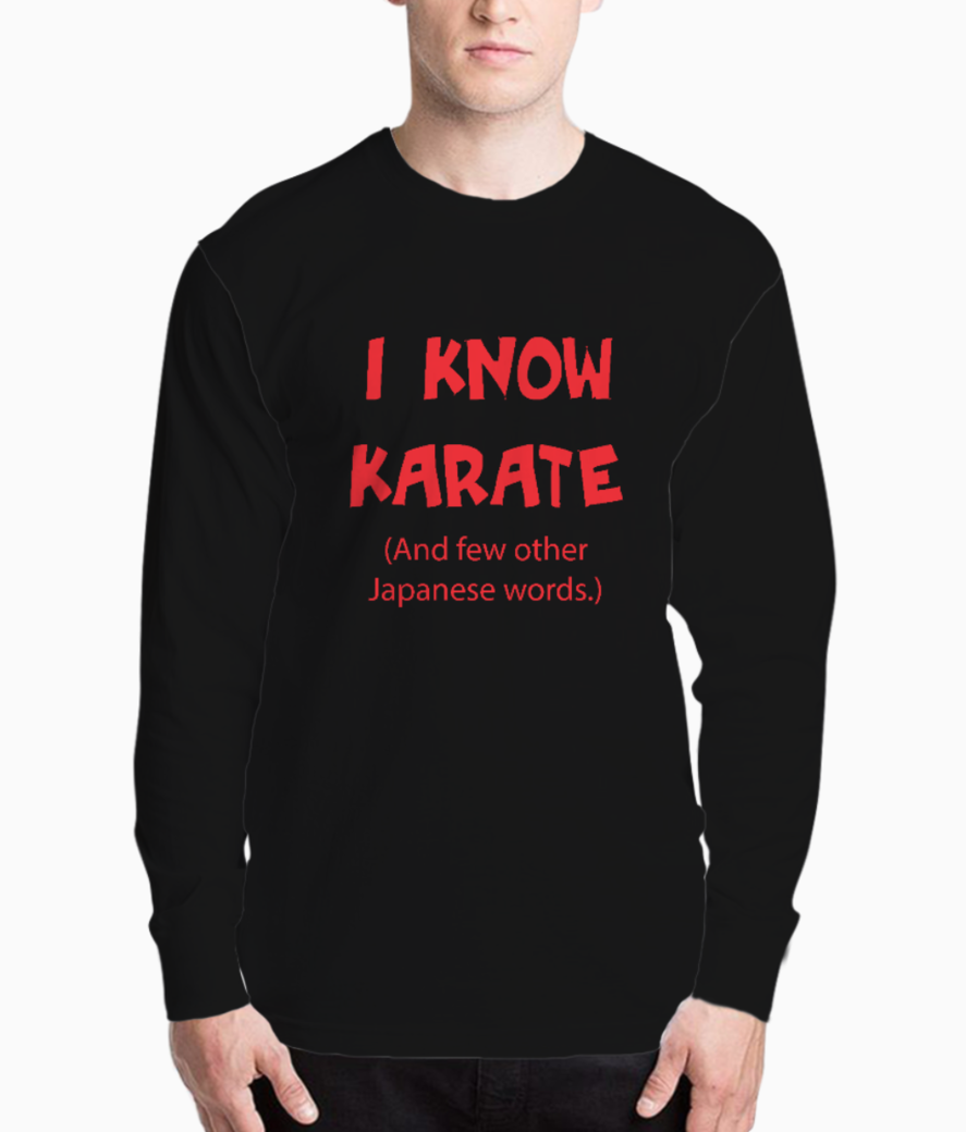 I know karate henley front