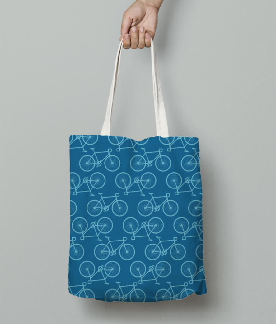 Cycle tote bag front