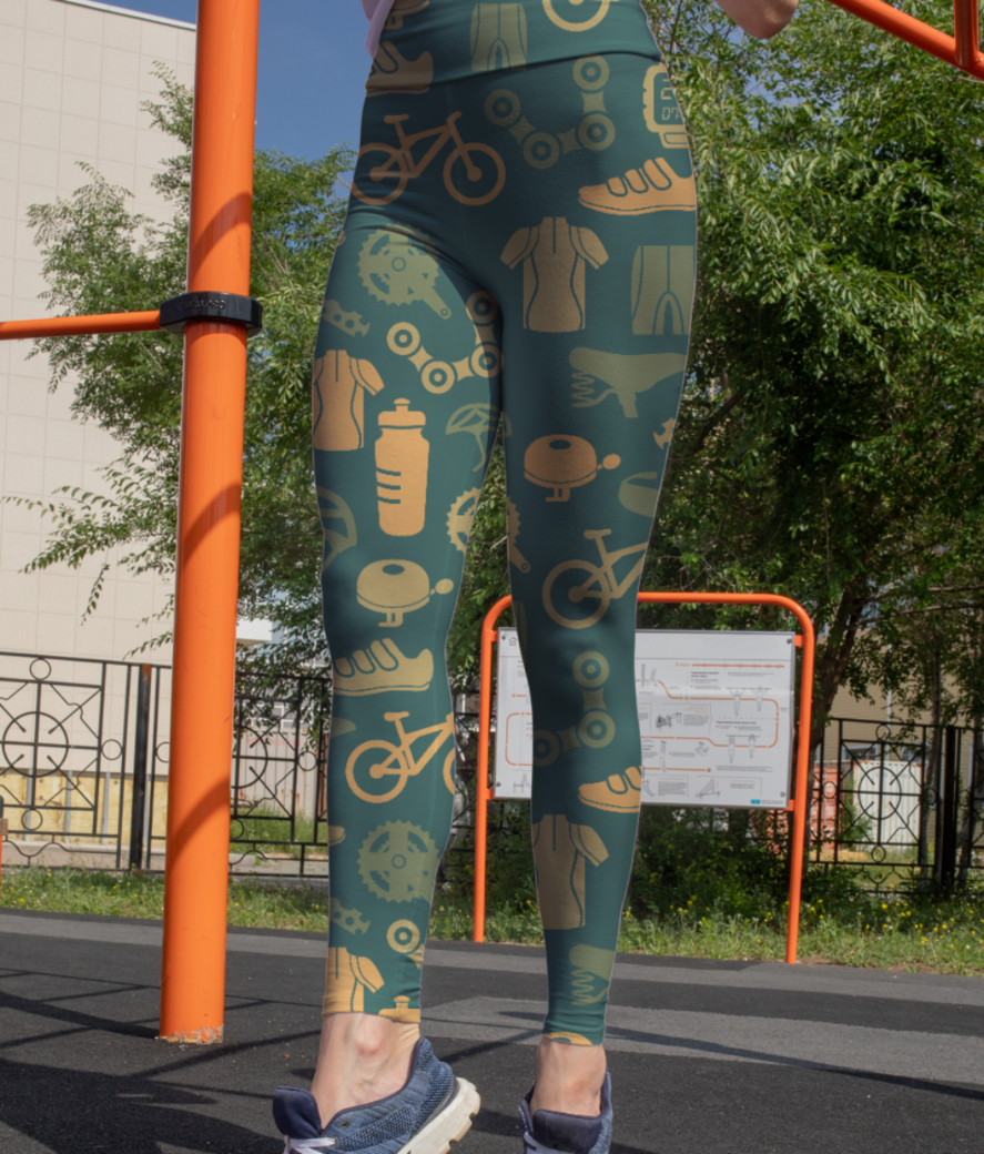 Cycling love leggings front