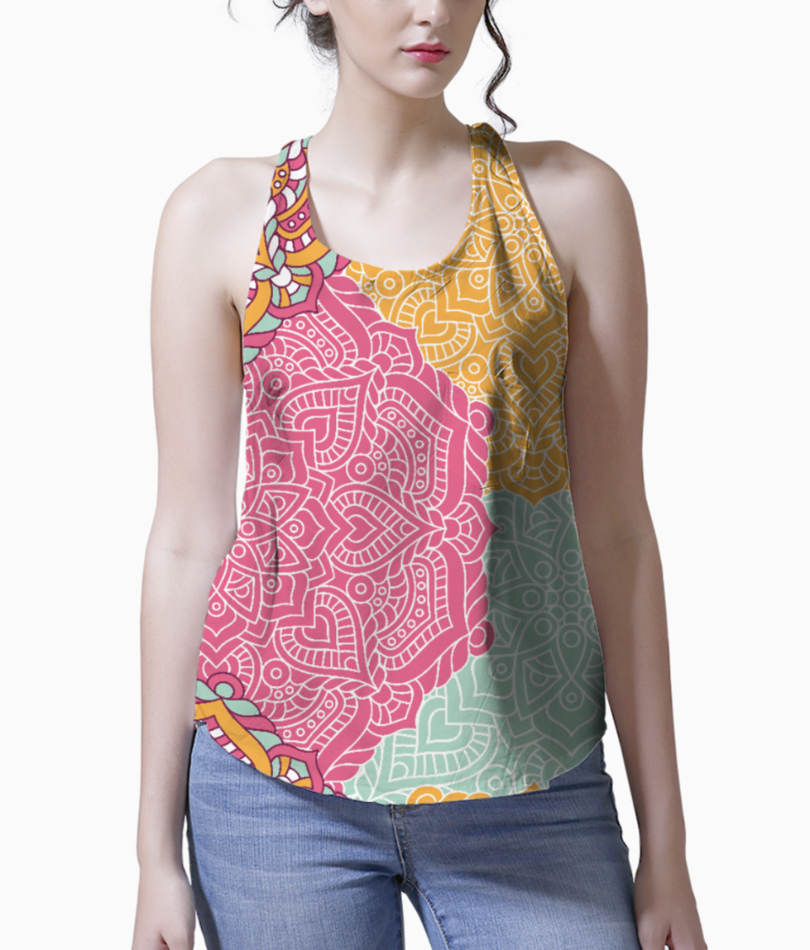Ethnic pattern 5 tank front