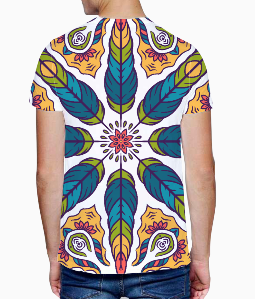 Feather pattern 1 t shirt back