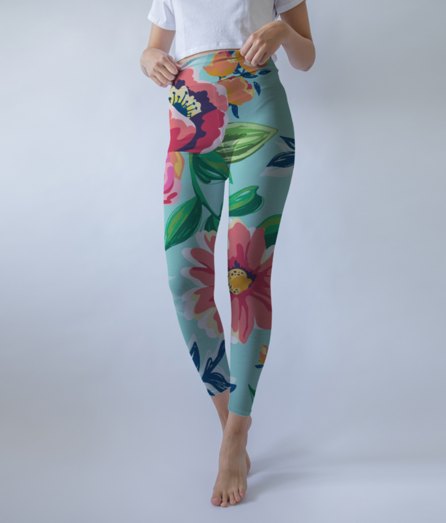 Floaral print leggings front