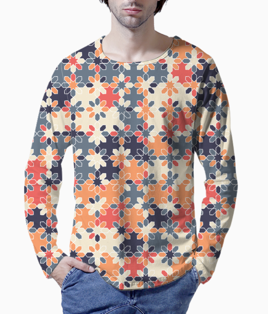 Floral print henley front