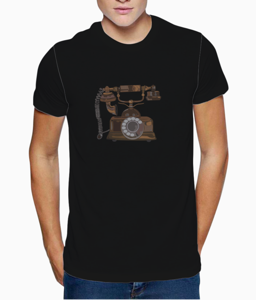 Telephone graphic t shirt front