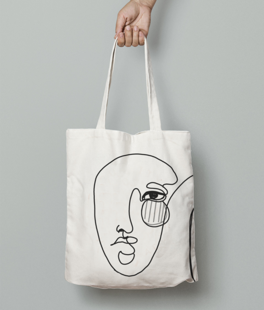 Redsyn disgn 1 tote bag front
