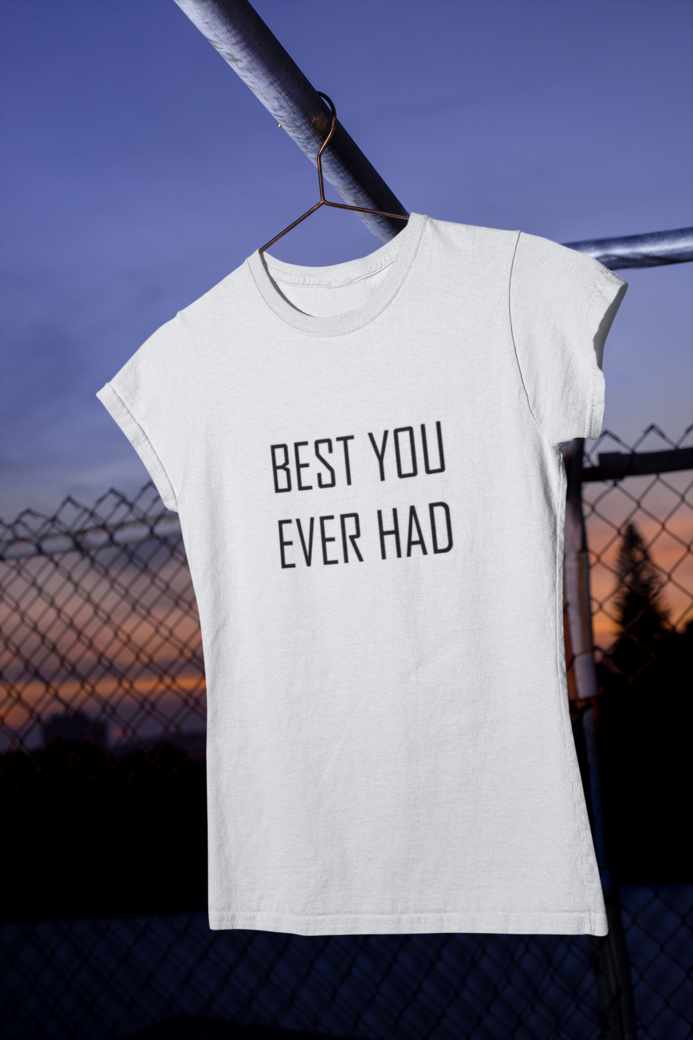 Mockup of a women s t shirt hanging in a urban scenario m485