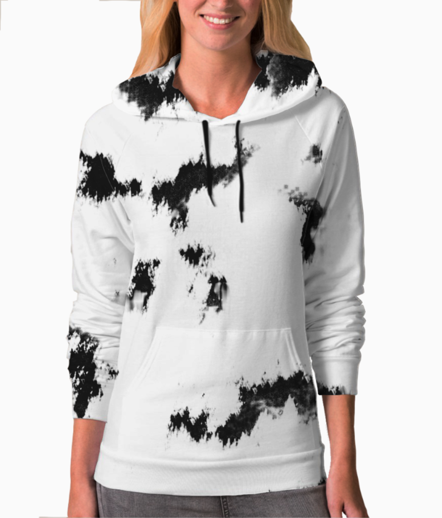 White tie and dye hoodie front