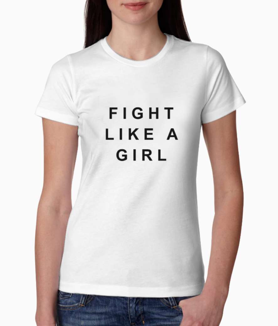 Fight like a girl tee front