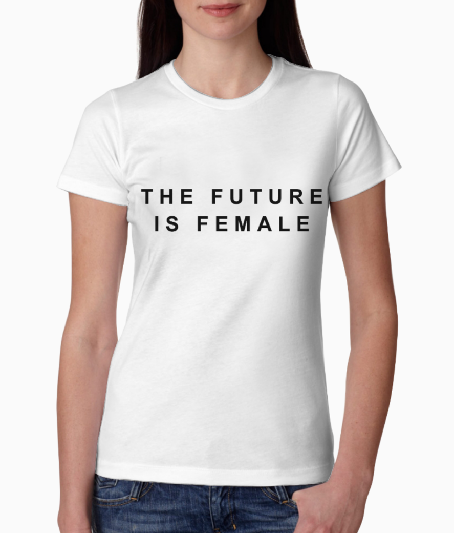 Future is female tee front